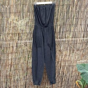 American Apparel sleeveless sweat jumpsuit